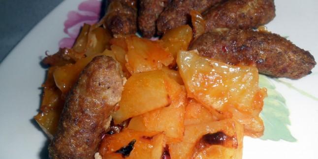 Fırında Patates Köfte Kızartması