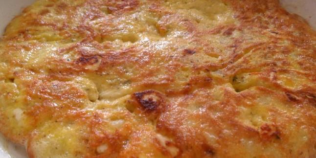 Patatesli Peynirli Omlet