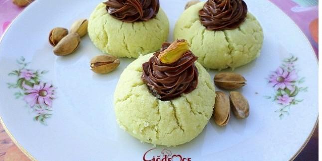Antepfıstıklı pudingli kurabiye