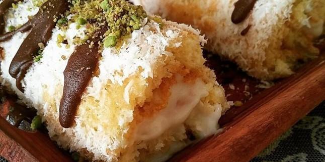 Şeftalili Mini Rulo Pasta